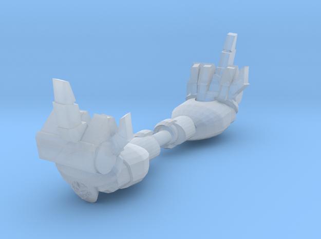 Mk1 - Rude Techno-Fist (F*** You) (x2) in Smooth Fine Detail Plastic