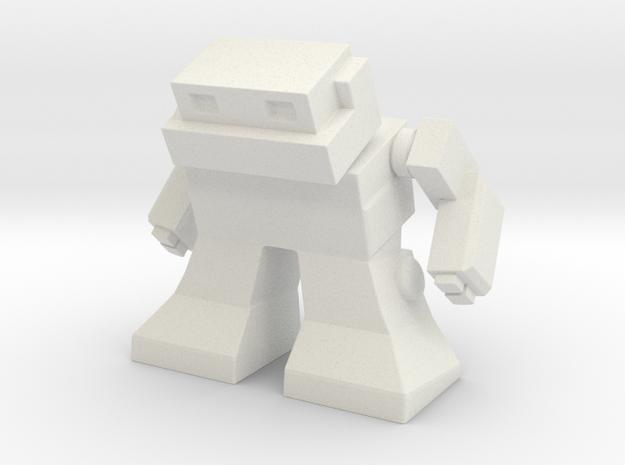 Robot 0041 Mech Bot v1 in White Natural Versatile Plastic