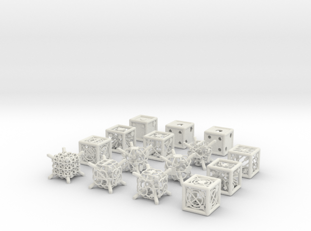 Grid Die All Pack 1 of 13 in White Natural Versatile Plastic