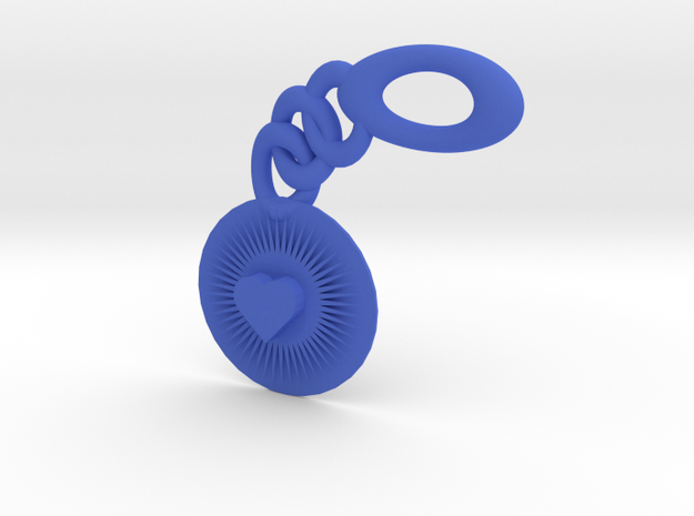 Bright Heart Key Chain 3d printed
