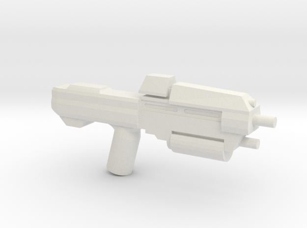 Space Assault Rifle 37 in White Natural Versatile Plastic