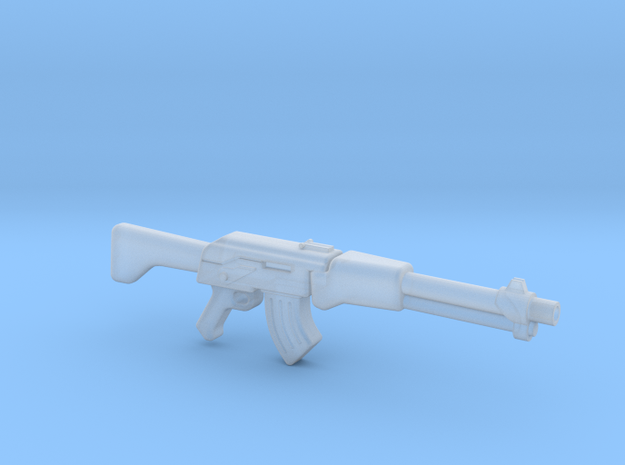 Assult rifle (28mm scale) in Smooth Fine Detail Plastic