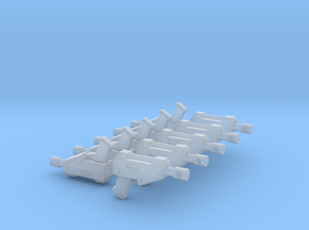 10 Miniature Pistols  in Smooth Fine Detail Plastic