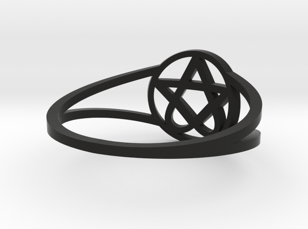 Heartagram Ring (Size 7) 3d printed