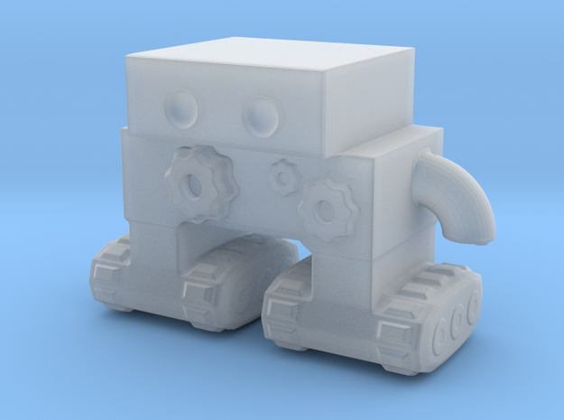 Robot 0046 Tread Bot v1 With Cogs and Gears in Smooth Fine Detail Plastic
