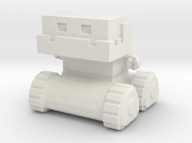 Robot 0052 Jaw Bot Tread Robot v1 in White Natural Versatile Plastic
