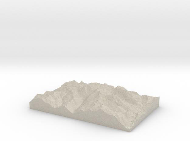 Model of Unicorn Glacier 3d printed