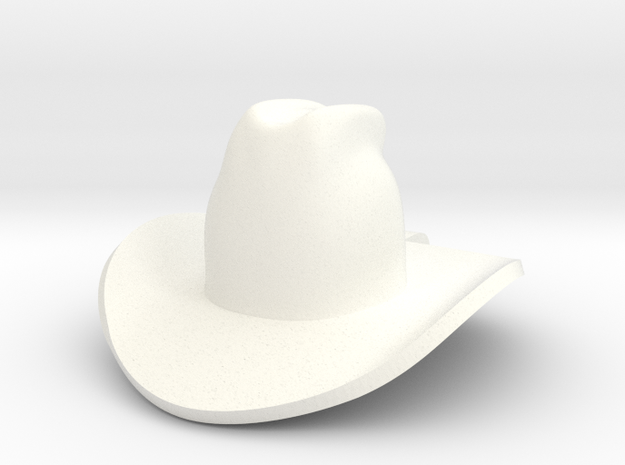 cowboy hat in White Processed Versatile Plastic