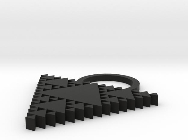 tessellation triangle key ring/ pendant 3d printed