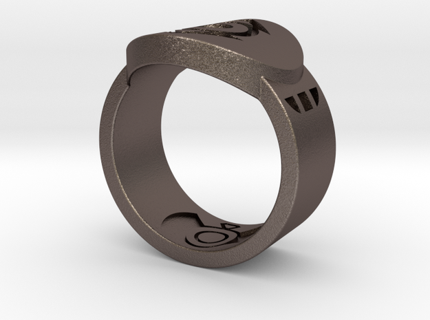 Indigo Tribe FF Ring Sz 11 3d printed