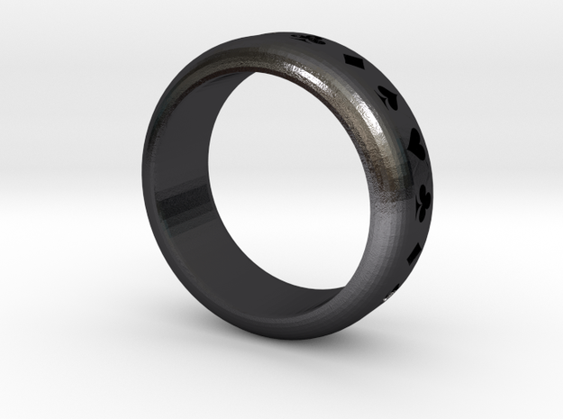 Ring (Card Suits) 3d printed