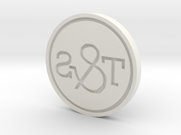 T&S Stamp emboss w ring in White Natural Versatile Plastic
