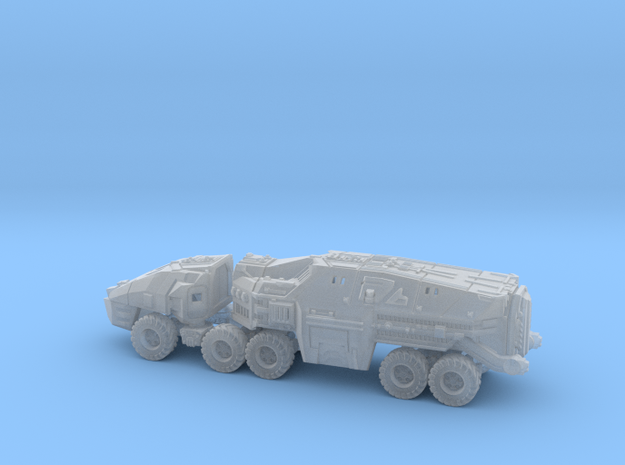 Command Trailer and Cab - 1/300 scale (6mm)  in Smooth Fine Detail Plastic
