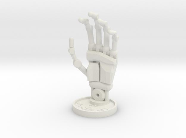Sculpture Hand 100mm in White Natural Versatile Plastic