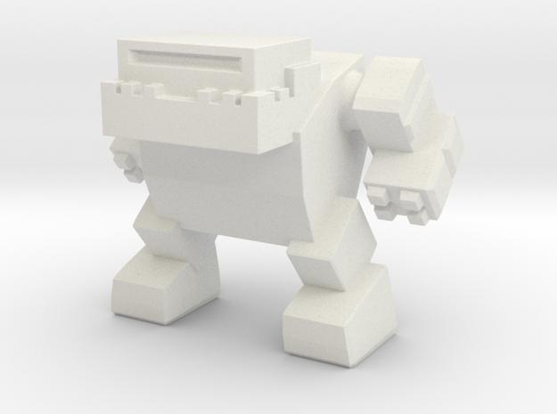 Bulldog Robot in White Natural Versatile Plastic