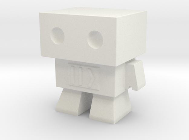 Fast Forward Robot in White Natural Versatile Plastic