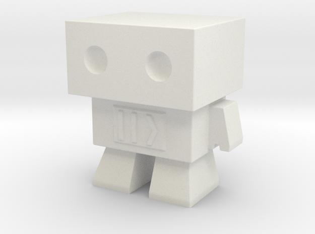 Fast Forward Robot in White Natural Versatile Plastic