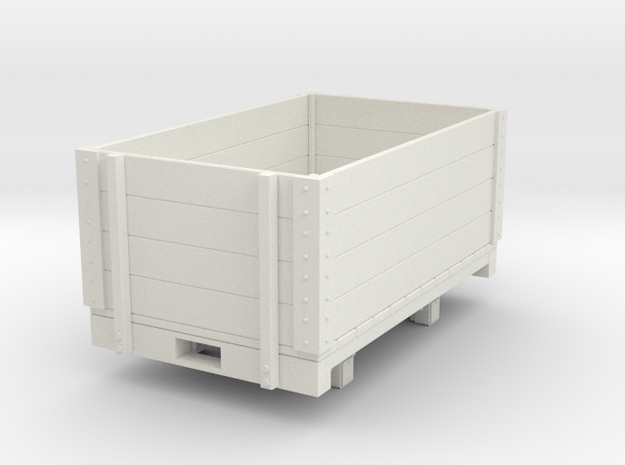 Gn15 high open wagon in White Strong & Flexible