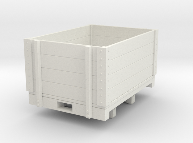 Gn15 high open wagon (short) in White Natural Versatile Plastic