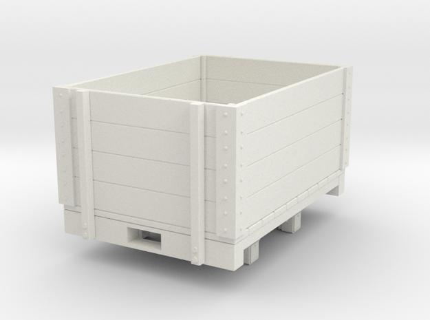 Gn15 high open wagon (short) in White Strong & Flexible