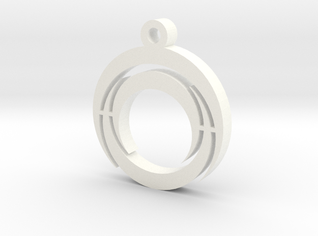 Tripple Crescent Key Ring & Necklace 3d printed