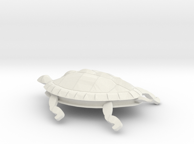 Turtle in White Natural Versatile Plastic
