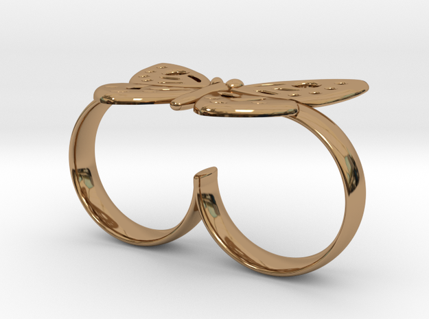 DOUBLE RING BUTTERFLY 3d printed