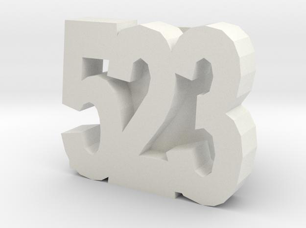 523slide in White Natural Versatile Plastic