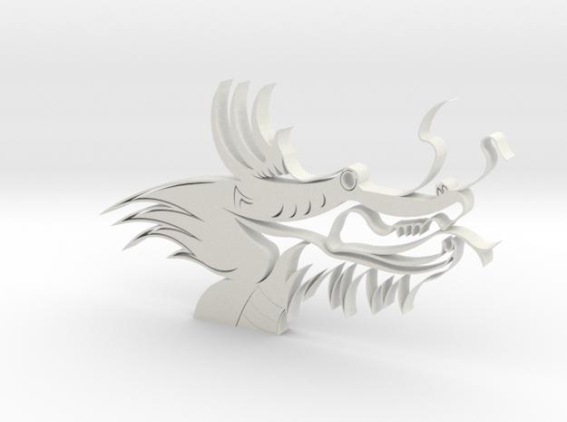 Dragon Head in White Natural Versatile Plastic