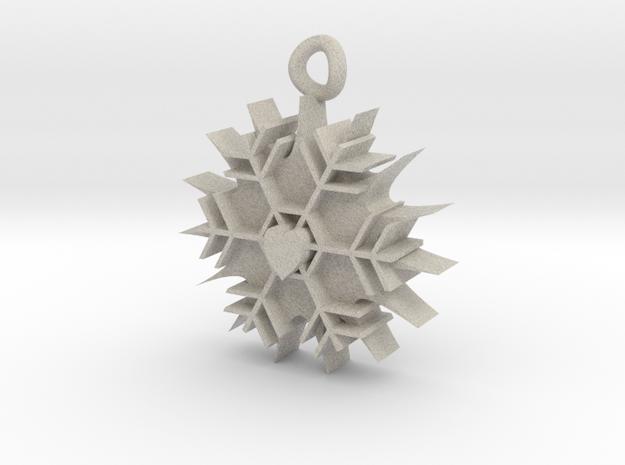 Ice heart pendant 3d printed