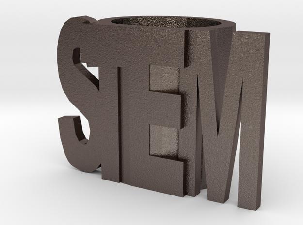 Stem Slide Optimized For Metal in Polished Bronzed Silver Steel