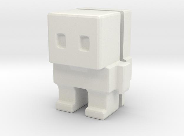 Block Bot Split in White Natural Versatile Plastic