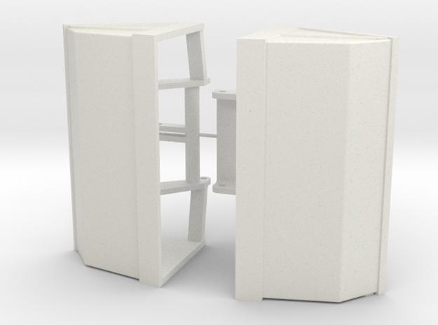 Zweischalengreifer 10m³ in White Natural Versatile Plastic