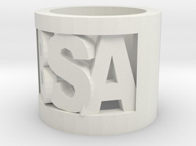 Bsa Cutout Slide in White Natural Versatile Plastic