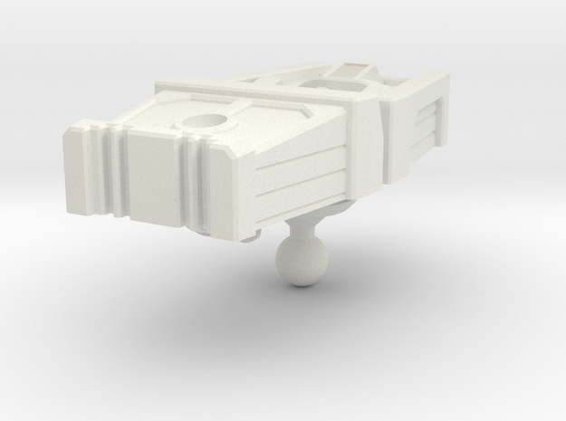 Motormaster head for Cybertron Prime mold in White Natural Versatile Plastic