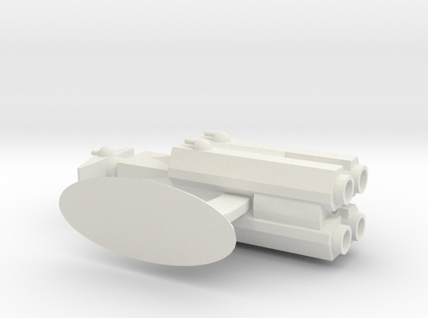 Capital Ship Class- Hunter in White Natural Versatile Plastic