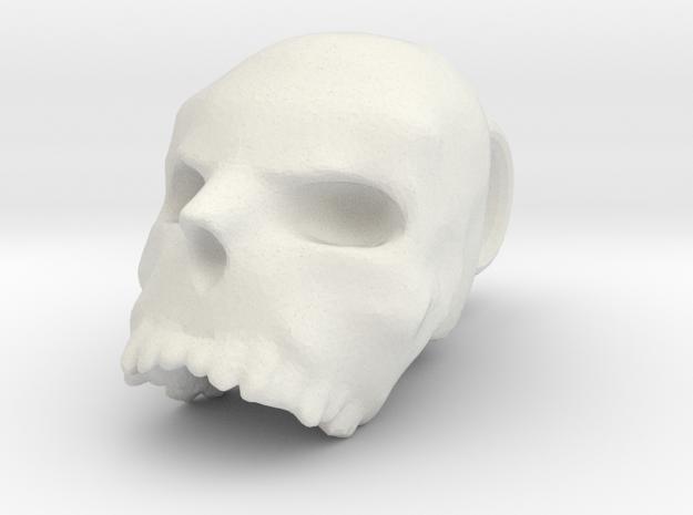 SMALL skull pendant in White Natural Versatile Plastic