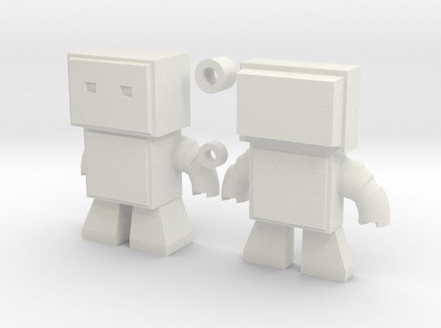 Robot Snap Kit Model in White Natural Versatile Plastic