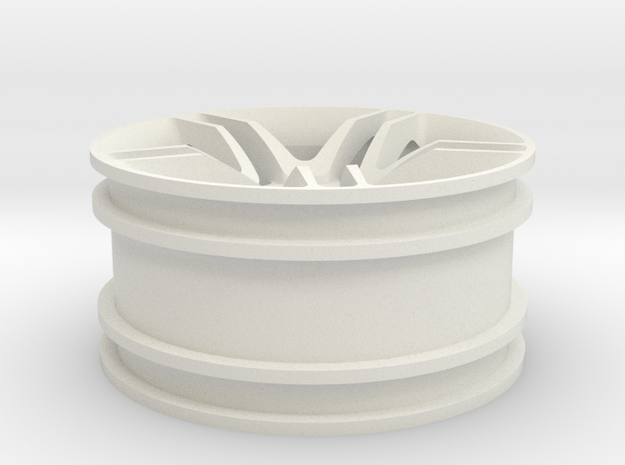 1:10 RC Car rim in White Natural Versatile Plastic