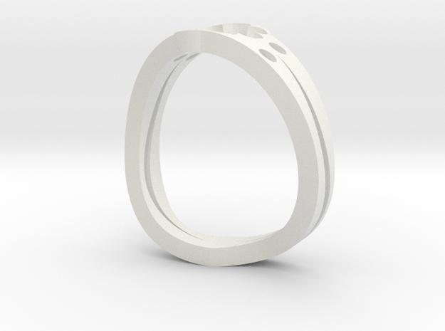 Lucky 7 Petal Flower Ring - SIZE 8 in White Natural Versatile Plastic
