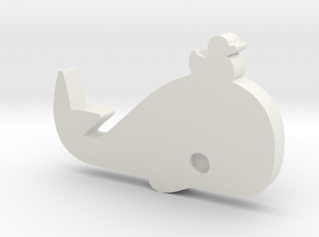 DuckWhale Lapel Pin 3d printed