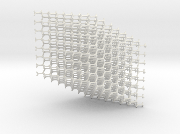 Standard Diamond Lattice in White Strong & Flexible