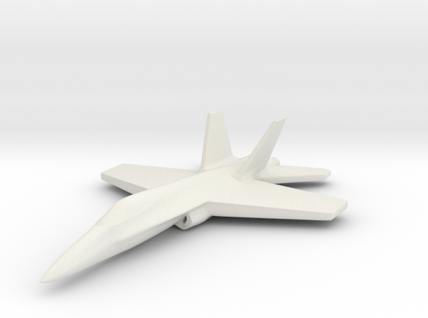 1/285 (6mm) F-18C Hornet in White Strong & Flexible