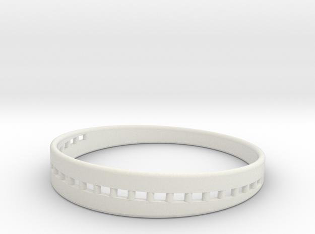 BraceletX 80mm in White Natural Versatile Plastic