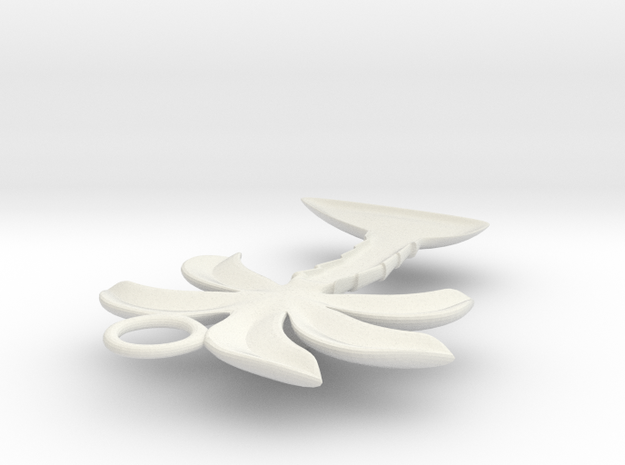 Palm Tree Pendant in White Natural Versatile Plastic