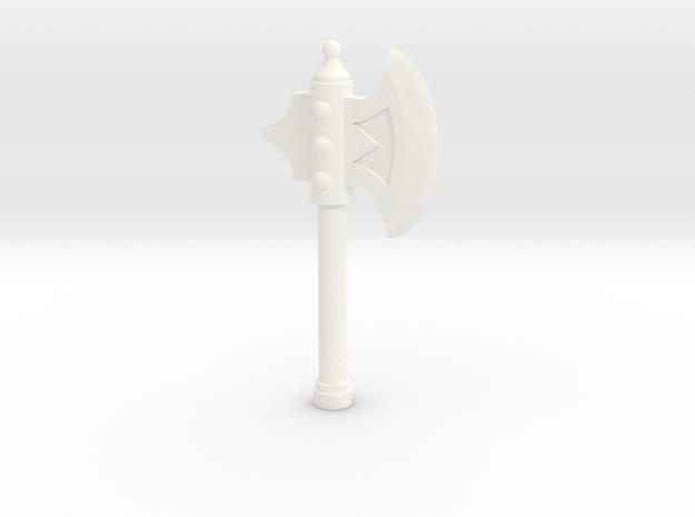 A. Half Axe in White Processed Versatile Plastic