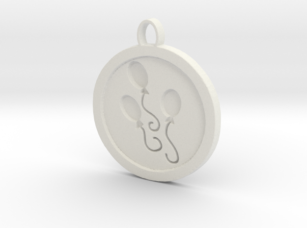 Pinkie pie pendant  in White Natural Versatile Plastic