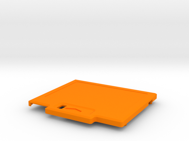 TED V1 Super Low Profile Shell in Orange Processed Versatile Plastic