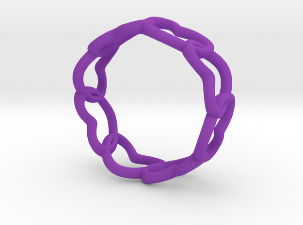 Connected Hearts Ring Size 7 3d printed