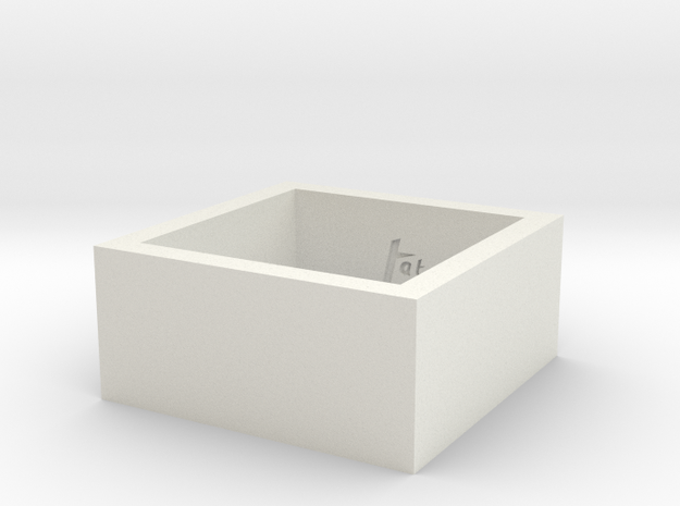 SquareRing_18mmx10mm in White Natural Versatile Plastic